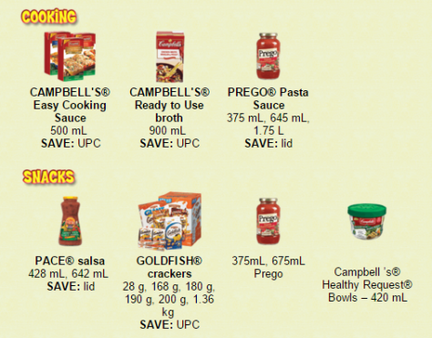campbells cooking and snacks
